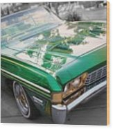 Green Low Rider Wood Print