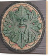 Green Man Wood Print