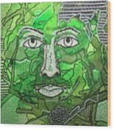 Green Man Wood Print