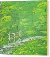 Green Meadows Wood Print