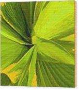 Green Mosaic Wood Print