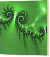 Green Mystery Wood Print
