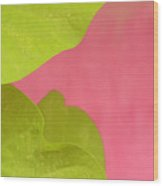 Green On Pink 1 Wood Print