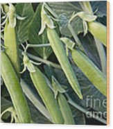 Green Peas Wood Print