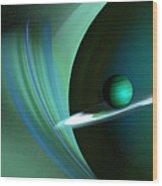 Green Planet Wood Print