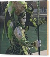 Green Queen Wood Print