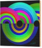 Green Rainbow Wood Print