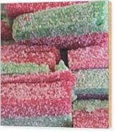 Green Red Sugary Sweet Wood Print