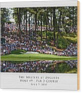 Green Reflections Par 3 Hole 9 Wood Print by Barry C Donovan