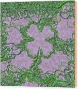 Green Ribbon Shamrock Wood Print
