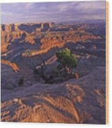Green River Canyon Sunset Wood Print