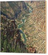 Green River Carving Canyon Wood Print