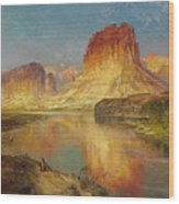 Green River Of Wyoming Wood Print by Thomas Moran