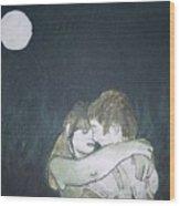 Green Romance Wood Print