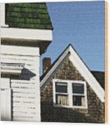 Green Roof Stonington Deer Isle Maine Coast Wood Print