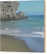 Green Sand Beach Wood Print