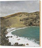 Green Sand Beach On The Big Island Hawaii Wood Print