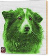 Green Shetland Sheepdog Dog Art 9973 - Wb Wood Print
