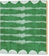 Green Shibori 3- Art By Linda Woods Wood Print