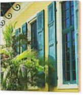 Green Shutters Wood Print by Debbi Granruth