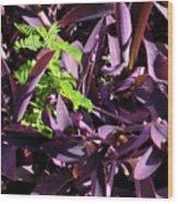 Green Spot Wood Print