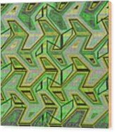 Green Steps Abstract Wood Print