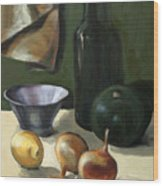 Green Still-life Wood Print
