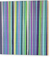 Green Stripe Wood Print