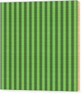 Green Striped Pattern Design Wood Print
