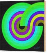Green Targets Wood Print