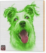 Green Terrier Mix 2989 - Wb Wood Print