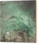 Green Texture Wood Print