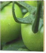Green Tomatoes No.3 Wood Print
