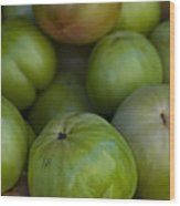 Green Tomatoes Wood Print by Robert Ullmann