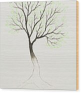 Green Tree Wood Print