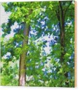 Green Trees 1 Wood Print