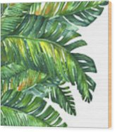 Green Tropic  Wood Print