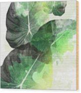 Green Tropical Wood Print