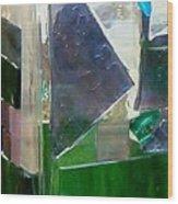 Green Vase Wood Print
