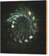 Green Vortex - Panel 2 Wood Print