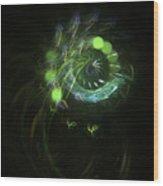 Green Vortex - Panel 3 Wood Print
