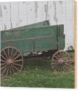 Green Wagon Wood Print