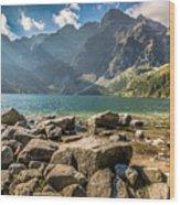 Green Water Mountain Lake Morskie Oko, Tatra Mountains, Poland Wood Print