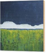 Green Wheat Field Wood Print