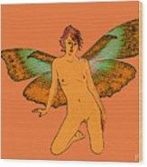 Green Wings Wood Print