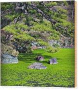 Green Winter Wood Print