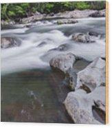 Greenbrier Water Cascade Wood Print