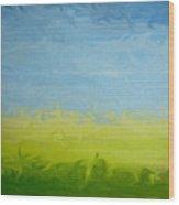 Greener Pasture 3- Digital Painting Wood Print