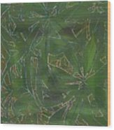 Greenery In Green Wood Print