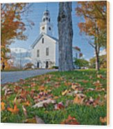 Greenfield Church Wood Print by Susan Cole Kelly